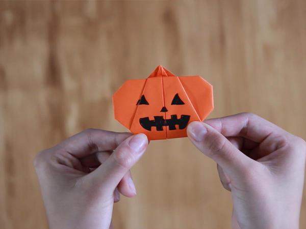 Origami How To Make Pumpkin Origami Tsunagu Japan