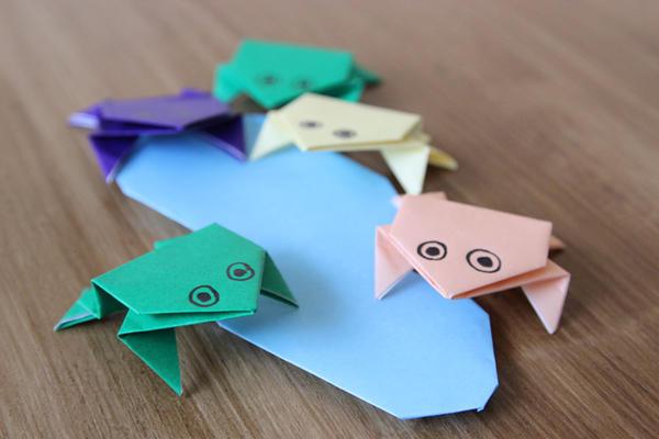 Origami How To Make Frog Origami Tsunagu Japan