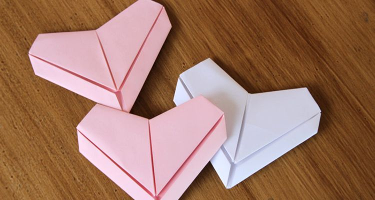 Origami Heart Instructions | Free Printable Papercraft Templates | 400x750