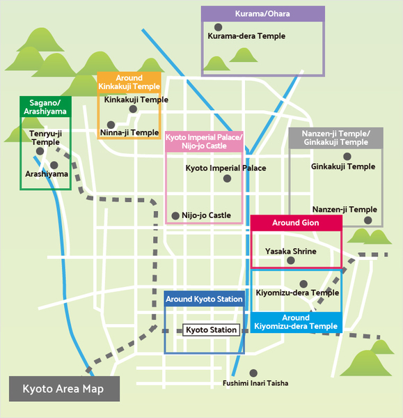mapa de kyoto japon