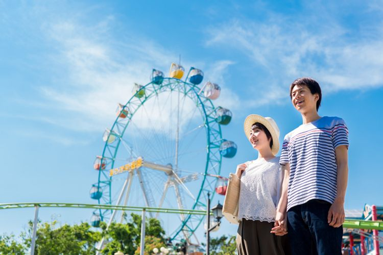 Weekend date a Japanese theme park