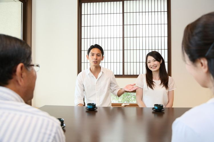 Meeting the Japanese parents