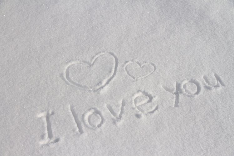 I love you in the snow