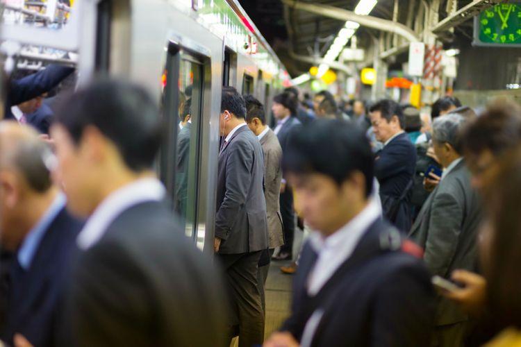 train car at station platform