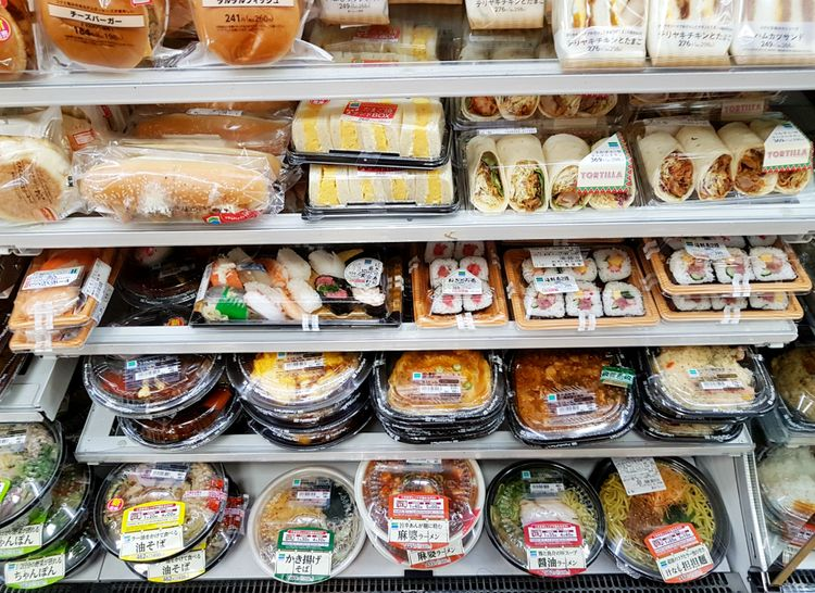 bento boxes at convenience store