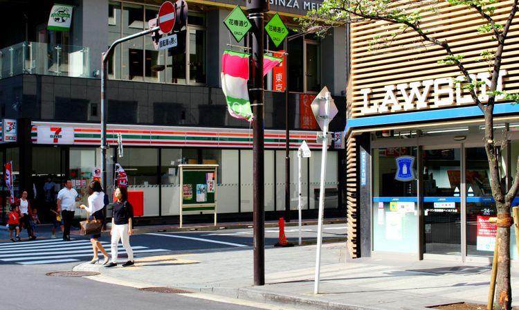 quiet street corner lawson conbini
