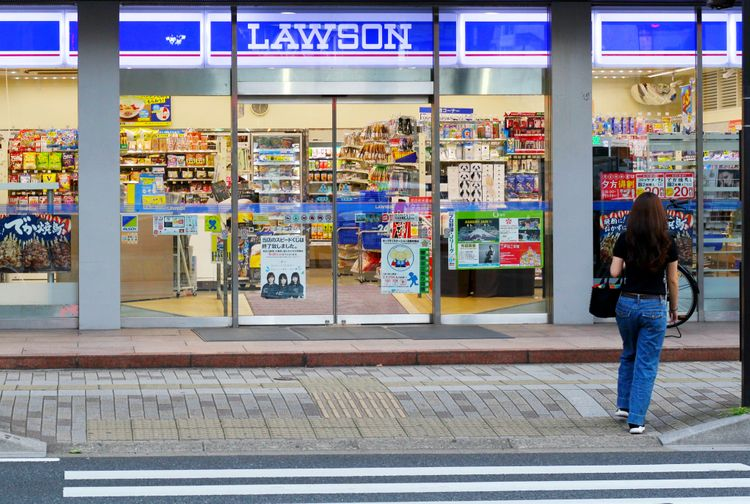 a quiet lawson convenience store