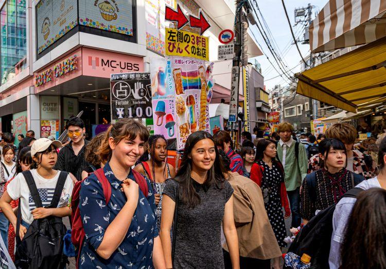 packed full of people tokyo scene