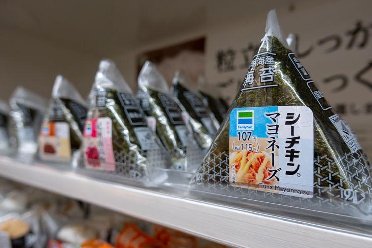 Onigiri at Japanese convenience store