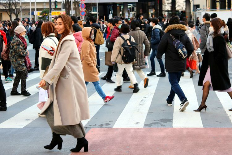 位於東京澀谷的人潮