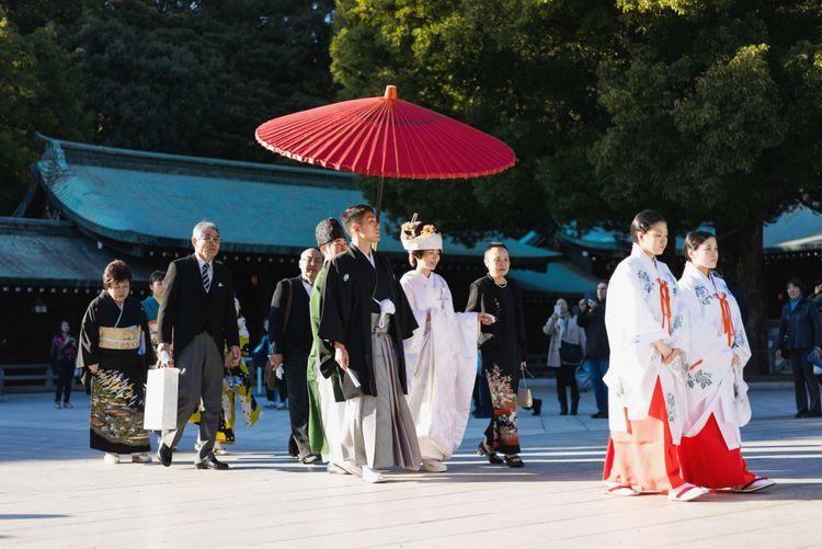 日本傳統的神社結婚儀式