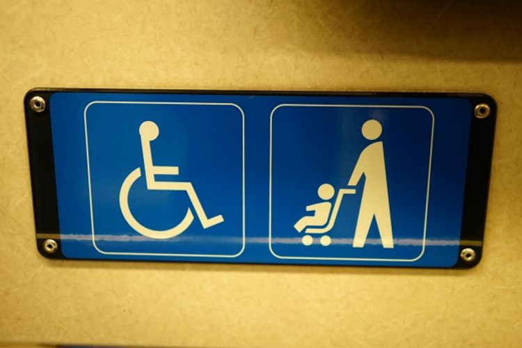 handicapped and baby stroller signs