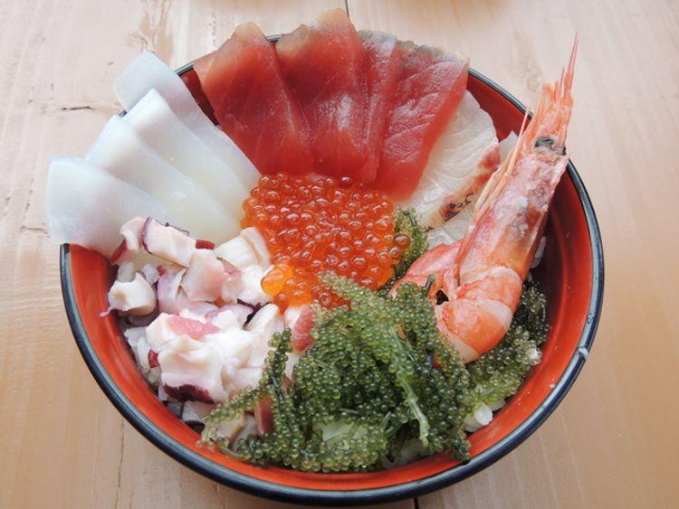 kaisen seafood bowl with umibudo