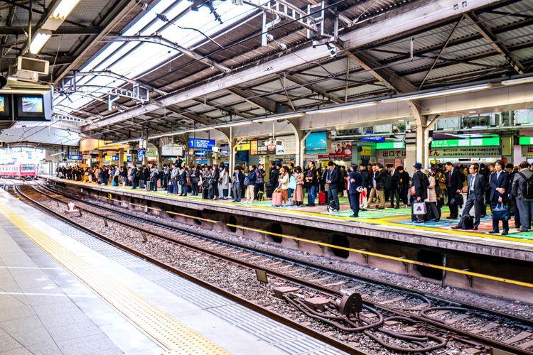 keikyu station platform japan