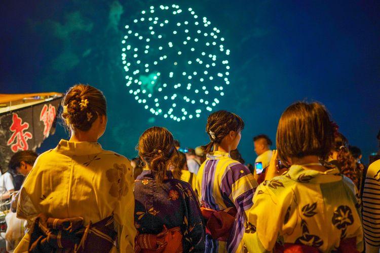 yukata fireworks festival matsuri hanabi