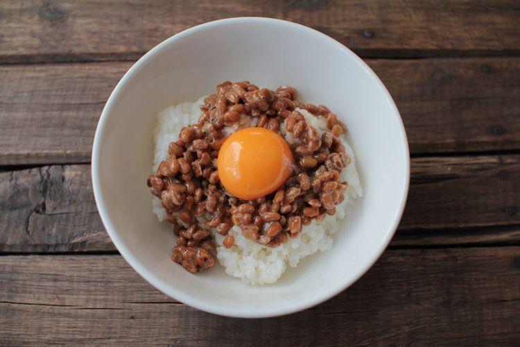 Natto on rice