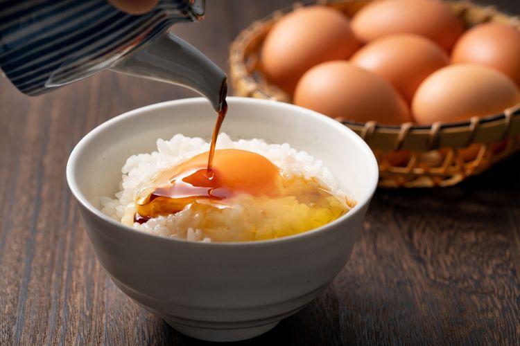 Tamago kake gohan raw egg with rice
