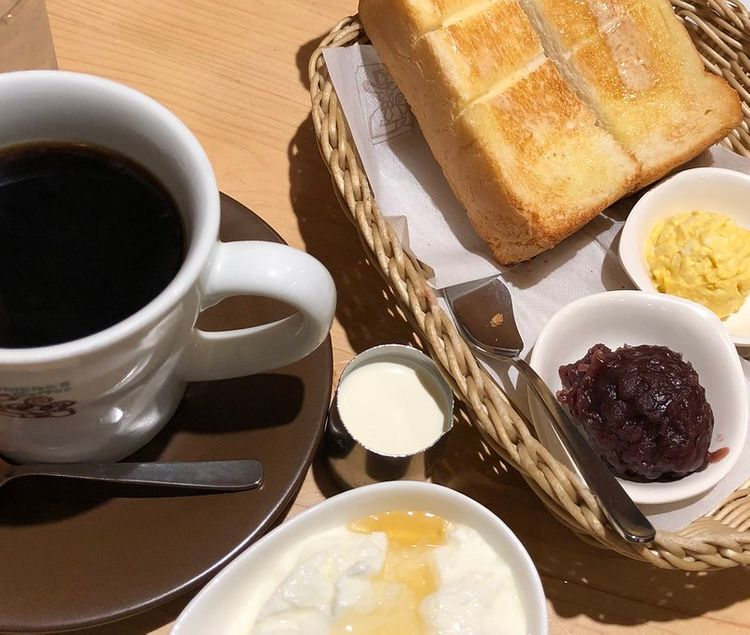 Komeda Coffee morning set