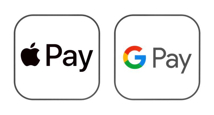 apple pay 和 google pay 的logo標籤