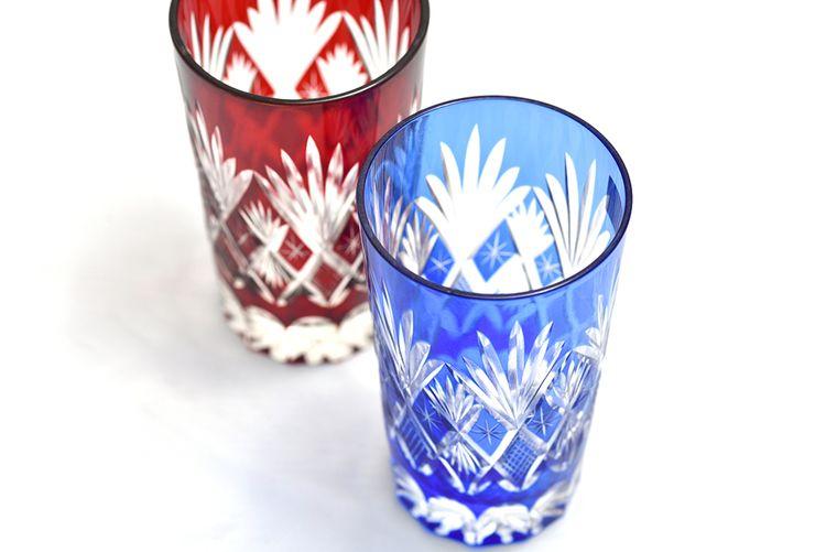 Edo-Kiriko glass cups