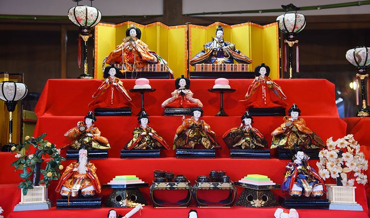 hina dolls on display