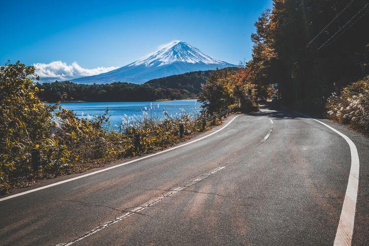 Mt. Fuji and a road