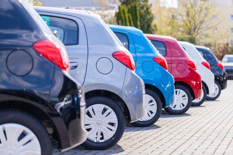 Cars at a dealership