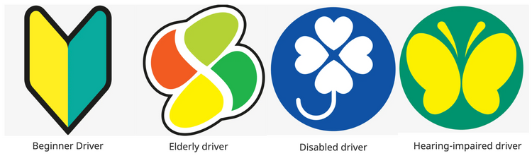 Japanese special driving stickers