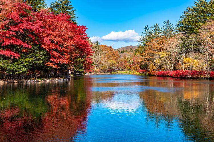 Hồ Kumobaike vào mùa thu