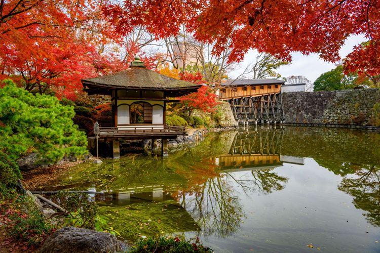 công viên trong lâu đài Wakayama