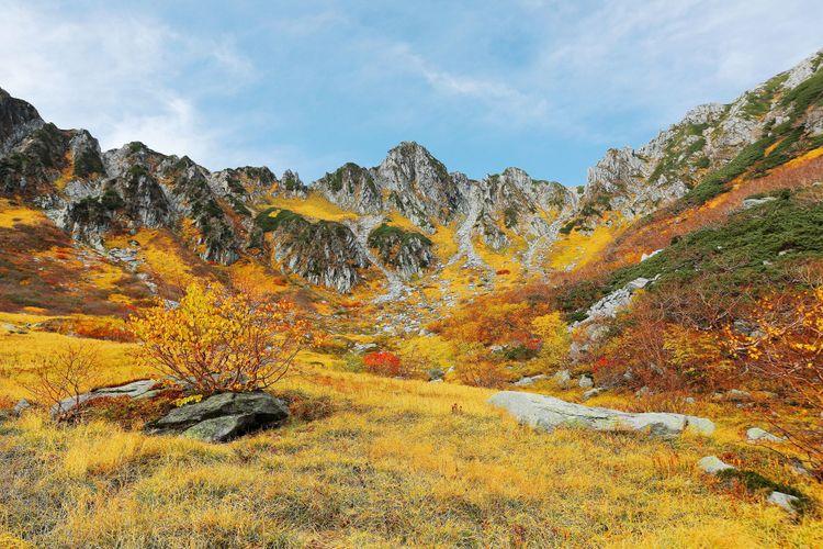 núi Senjojiki vào mùa thu