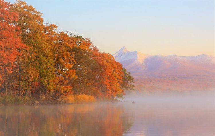 大沼國定公園的楓葉美景