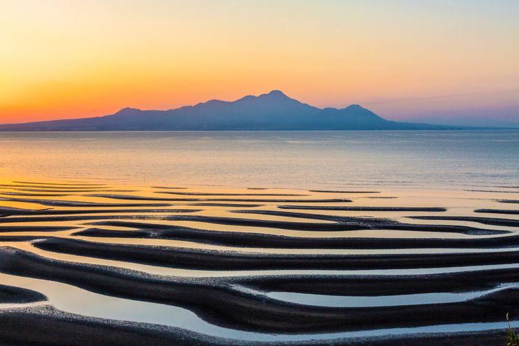 okoshiki coast beach seashore sunset kumamoto