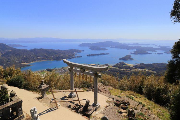 kuratake shrine mount kura amakusa islands kumamoto