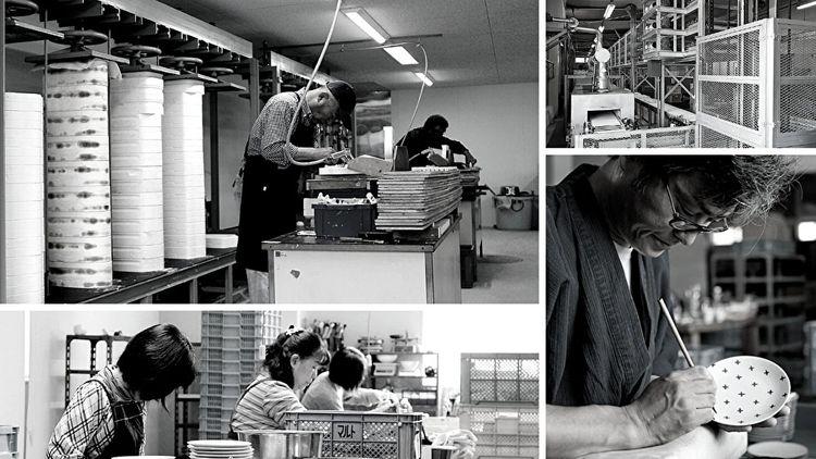 nghệ nhân sản xuất gốm sứ Mino