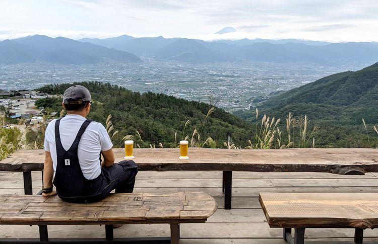 山梨縣山步咖啡廳的景色