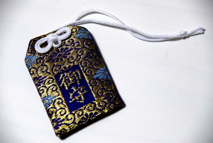 A Japanese omamori charm for good luck