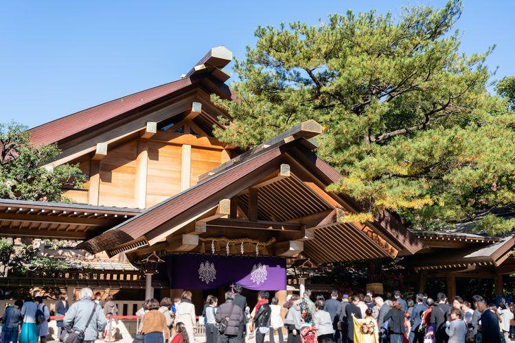 Atsuta jingu shrine is perfect for hatsumode on new years