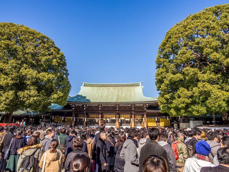 hatsumode at Meiji Jingu shrine in Harajuku Tokyo
