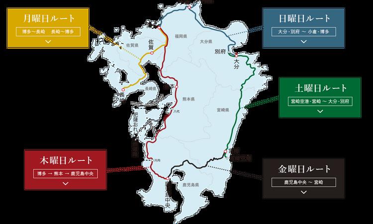 「36+3」列車路線圖