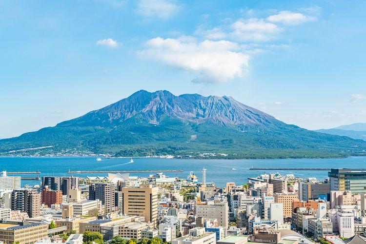 鹿兒島的代表地標櫻島