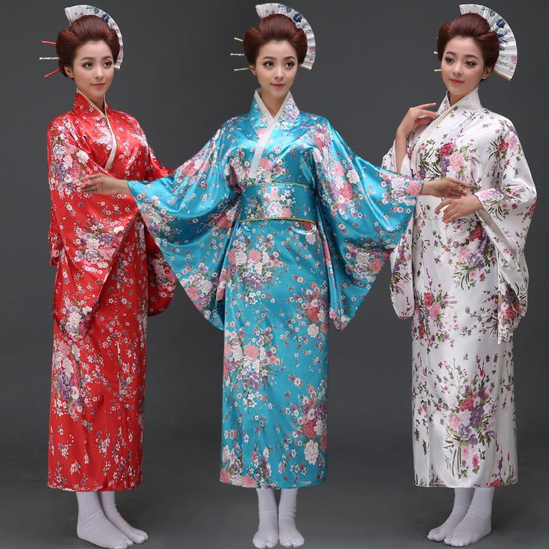 Japanese-Cherry-blossoms-geisha-clothing-Vintage-Japanese-Kimono-Yukata-Haori-Costume-Retro-women-Dress-Obi-Cosplay