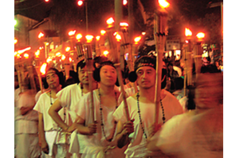 Pine Torch Procession by the men