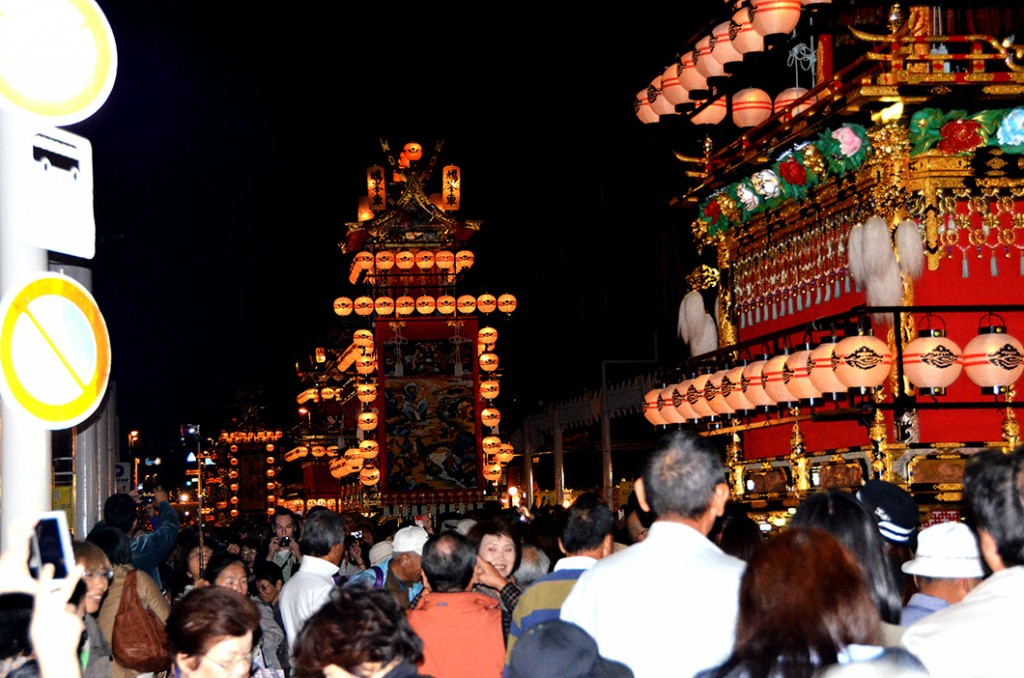 6. Yatai are Displayed along the streets
