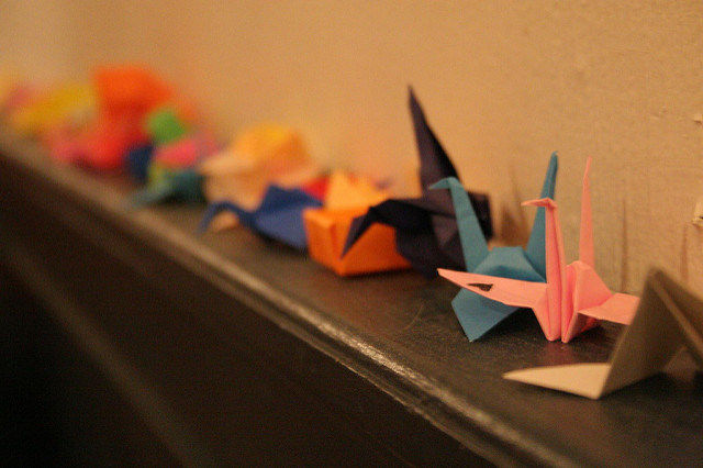 Origami. A Set Of Origami. Set Origami Butterfly, Crane, Frog ... | 426x640
