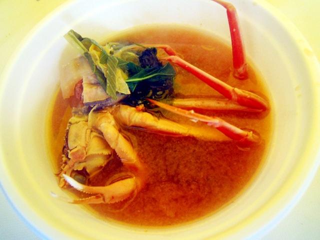4. カニの味噌汁