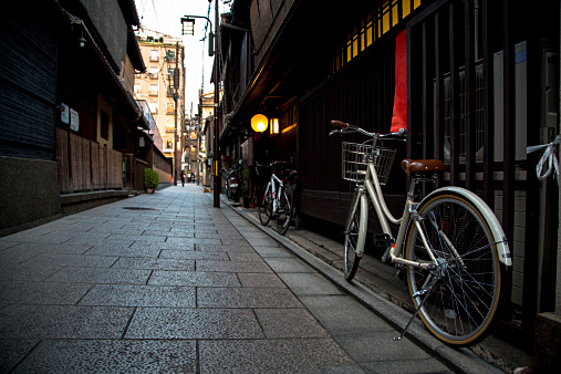 bike and Japanese Alley