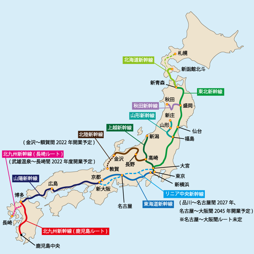 The Perfect Guide To Shinkansen The Japanese Bullet Train - Japan map bullet train
