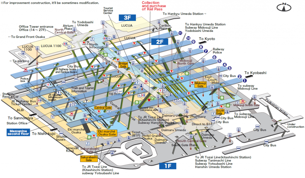 A Complete Guide To Osaka And Umeda Stations For Foreign Travelers - Japan jr map osaka